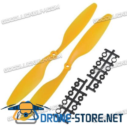 "10x4.5"" 1045 1045R Counter Rotating Propeller Blade For Quadcopter MultiCoptor-Yellow"