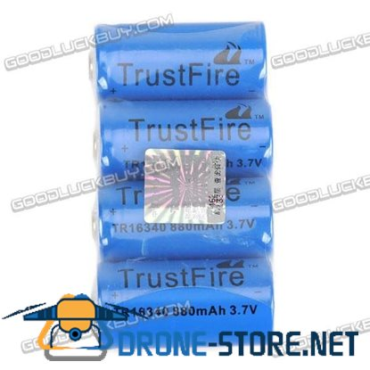 2Pcs TrustFire Protected 14500 3.7V 900mAh Rechargeable Lithium Batteries