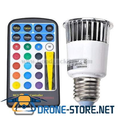 16 Color 5W RGB LED Bulb Light E27 110-120V with Remote Control