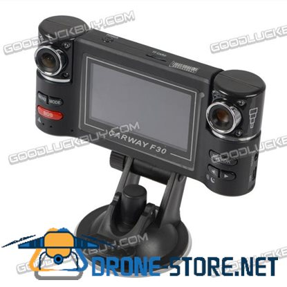 "2.7"" F30 270 degree Rotatable Dual Camera Two Channels Car HD Video Recorder"