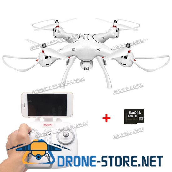 SYMA X8PRO GPS Return Drone WiFi FPV Real-time Camera RC Quadcopter Drone Toys w/ 4g Card