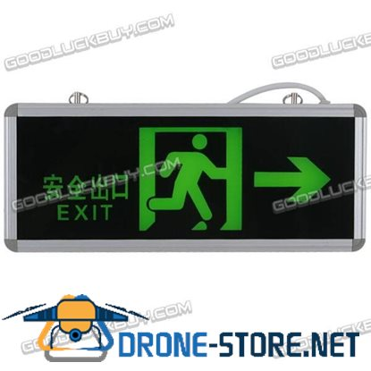 Green LED Emergency Exit Sign LED Compact Circuit Right Arrow