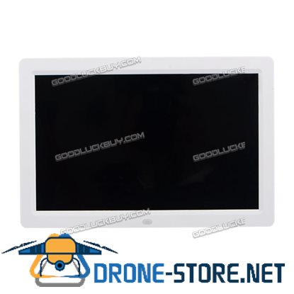 """12"""" HD LED Digital Photo Picture Frame 1280*800 Mp4 Player w/ Remote Control White"""