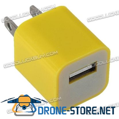 100-240V 1A 3G Power Adapter Plug Travel Adapter with USB Port-Yellow