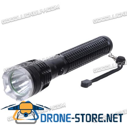 K265 CREE T6 LED Light Bulb 1100lm Aluminum Alloy Rechargeable Flashlight Torch 5-Mode Black