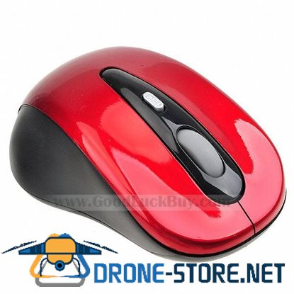 10M 2.4G USB Wireless Optical Mouse for PC Laptop Red