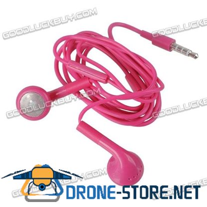 Rose Red Headset Earphone Headphone Earbuds 3.5mm for Tablet Phone MP3 MP4