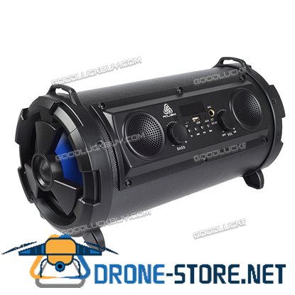 15W LCD Bluetooth Wireless Speaker Super Bass Subwoofer Stereo AUX USB TF FM Black