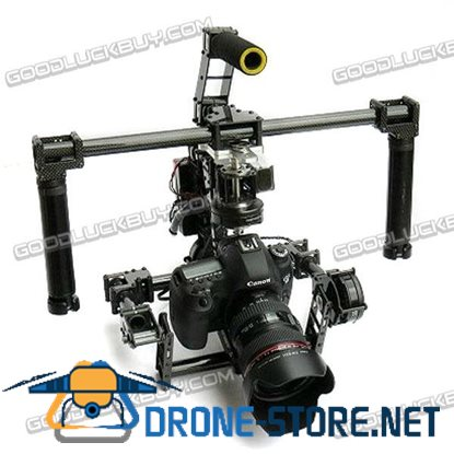 3-Axis Handle FPV Quick Mount Dual Use Brushless Gimbal Stabilizer for 5D3 DSLR Photography