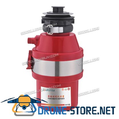 1 HP 2600 RPM Household Garbage Disposer Kitchen Waste Disposal Operation Red