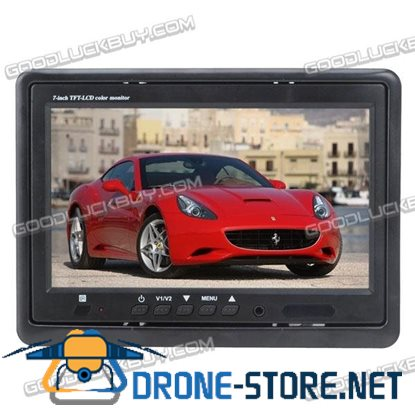 """7"""" TFT LCD Color Video Car Rearview Headrest Monitor 800*480 DVD VCR VCD Backup Mirror"""