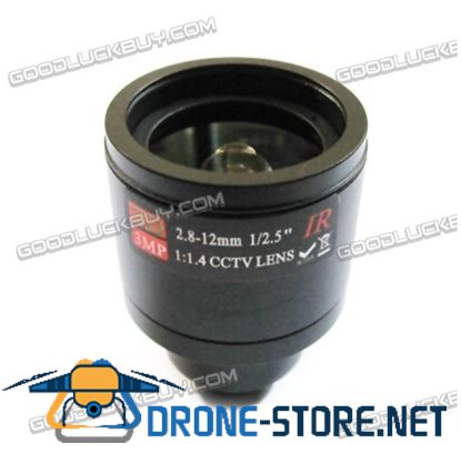 "1/2.5"" Manual-Iris CCTV Lens 2.8-12mm Varifocal M12 Interface for Security CCTV Camera"