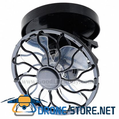Solar Cell Fan Sun Power energy Panel Clip-on Cooling