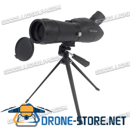 20-60X60 Zoom Adjustable Monocular Telescope Mono Spotting Scope with Aluminum Tripd