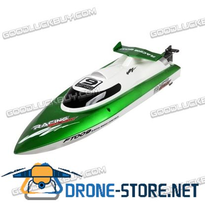 FT009 2.4G 4CH Water Cooling High Speed Remote Control RC Racing Boat 30km/h Green