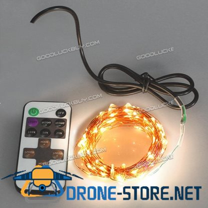 10M 5V USB Decorative LED Copper Wire String Light Strip Lamp Waterproof for Wedding party Warm White