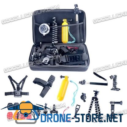 26 in 1 Head Chest Mount Floating Monopod Accessories Kit for Gopro Hero 2 3 4 Camera