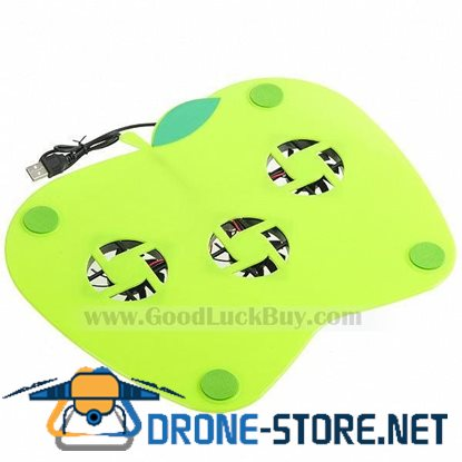 Apple Shaped USB 3 Fans Cooler Cooling Pad for Laptop Notebook