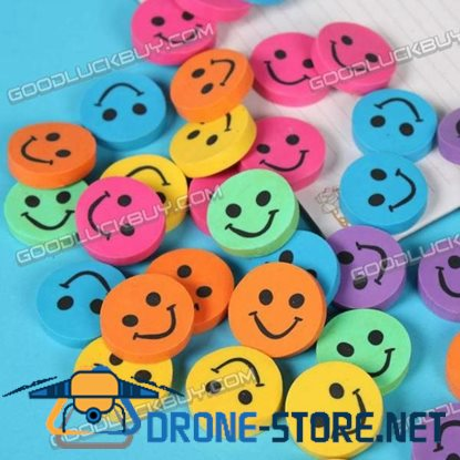 Colorful Smile Face Eraser Rubber Toy Gift 1 Pack of 12