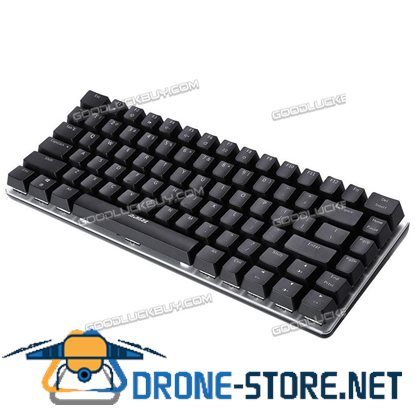 Ajazz Geek AK33 Blue Light Backlit Wired Gaming Mechanical Keyboard Black