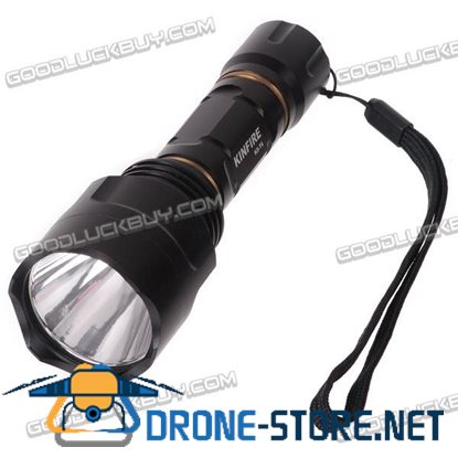 KinFire K8-T6 5 Mode Cree XM-L T6 LED Flashlight Portable Torch