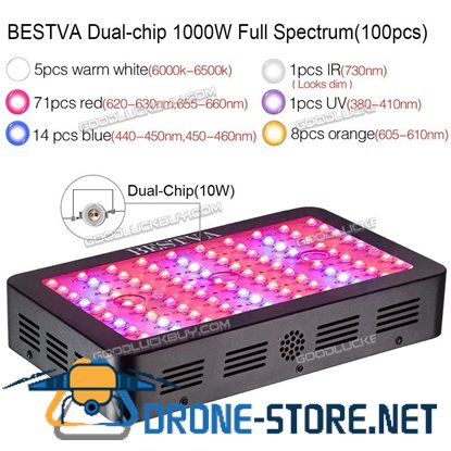 1500W Double Chips Series LED Grow Light Full Spectrum for Plant