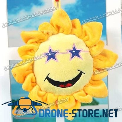 Plush Smile Sunflower Toy for Kids Room Party Favors 25cm