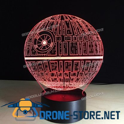 3D Star Wars Death Star LED Night Light Table Desk Lamp 7 Colors Remote Control