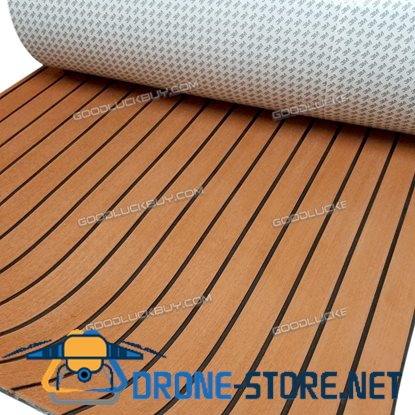 118''x35'' 6MM Brown Flooring Synthetic Teak Sheet EVA Foam Boat Yacht Decking