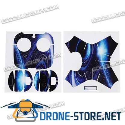 Waterproof Anti-scrape PU Leather Sticker Star Sky Pattern for DJI Phantom 4 Shell & Remote Controller