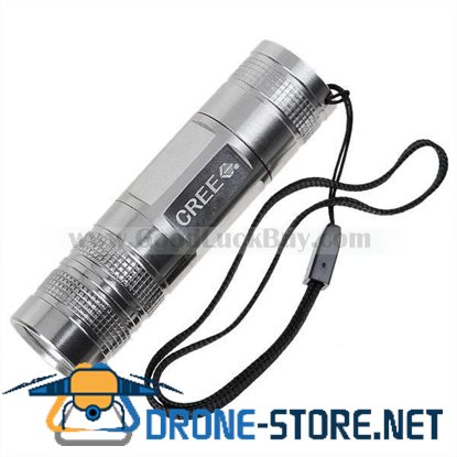 MX Power 3W Cree P4-WC 120-Lumen LED Flashlight - Silver (1*AAA)