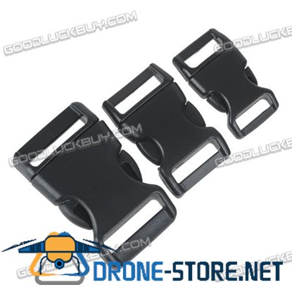 15/20/25mm Black Plastic Side Quick Release Buckles for Webbing Interlocking