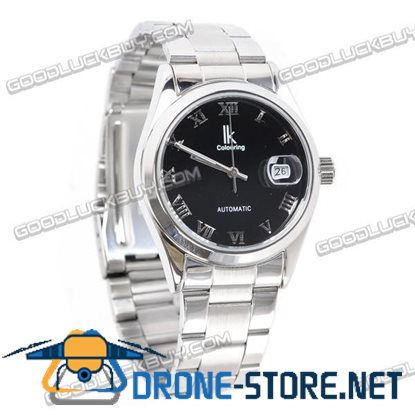 IK Colouring Automatic Mechanical Men Wrist Watch Stainless Steel 98080