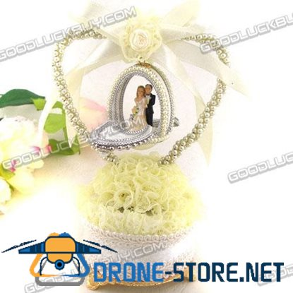 Decorated Real Goose Egg Wedding Bride & Groom Musical Music Box Gift 37-1A