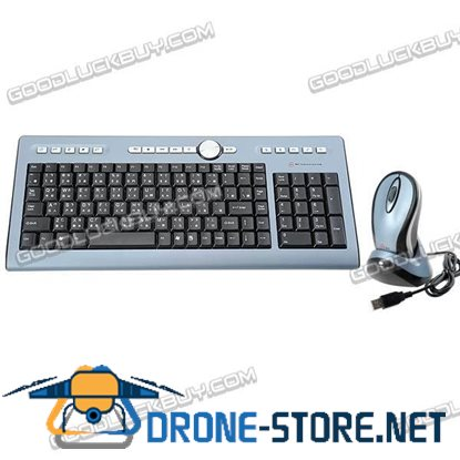 27MHz RF Wireless Keyboard and Optical Mouse Combo MC-1352WC