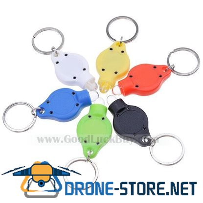 6x Colorful Bright White LED Flashlight Keychain Assorted Color(6-Pack)