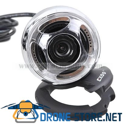 USB 2.0 Webcam Web Camera w/ Speaker + Microphone for PC Laptop