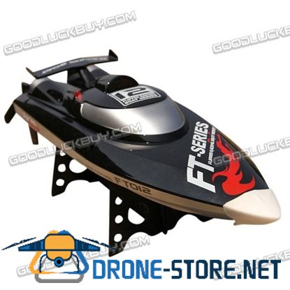 Feilun FT012 2.4G 4CH Remote Controlled RC Brushless Racing Boat High Speed 45km/h Black