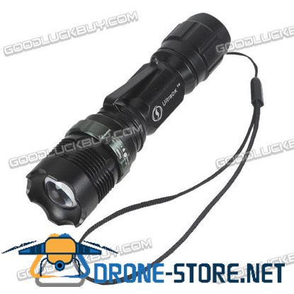 8455 Zoomable CREE LED Aluminum Flashlight Torch 200 Lumen