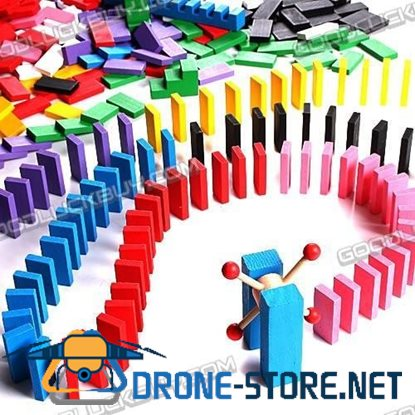 500 Pieces Colorful Dominoes Educational Funny Toy