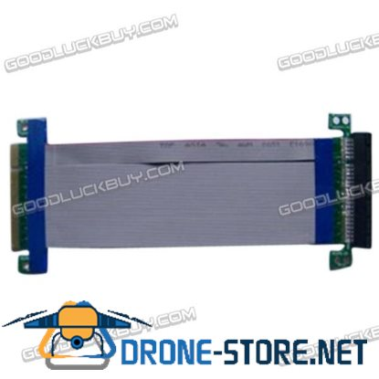 PCI Express 8X Riser Card Extender Flexible Extension Cable Ribbon Adapter