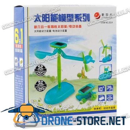 6 in 1 Solar Powered Toys Educational DIY Kit Set