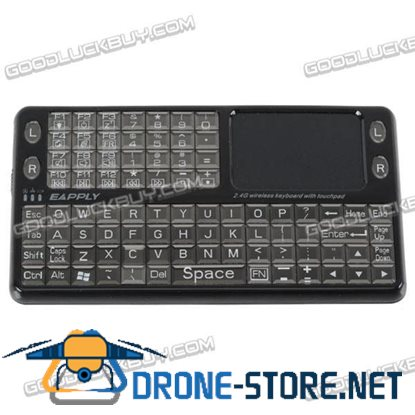 EBO-8003 Wireless 2.4GHz Rechargeable Keyboard with Touch Pad Mouse Black
