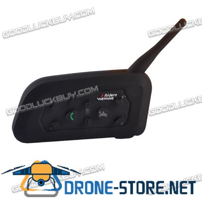 V6 1200M Motorcycle Helmet Bluetooth Intercom Headset 6 Riders Interphone 1pc