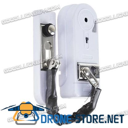 Door Lock Security Lock Family Security Protection Alarm with Holder White
