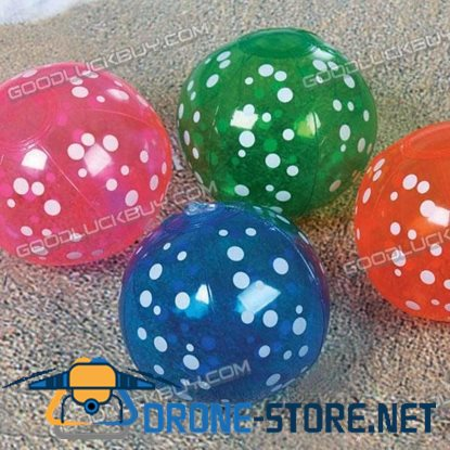 "6"" Inflatable Toy Beach Ball Inflate Pool Happy Spotted Ball (4-Pack)"
