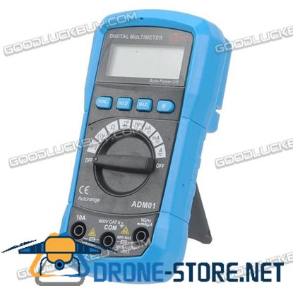 ADM01 Digital Multimeter DC AC V/A Resistance Frequency Diode Continuity with Backlit