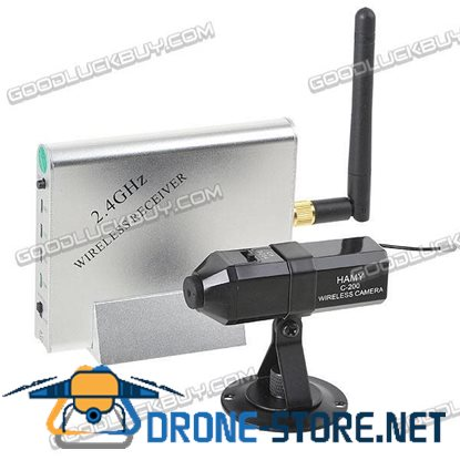 2.4GHz Wireless NTSC Camera & Receiver Security System KY-2.4GR02+C-200