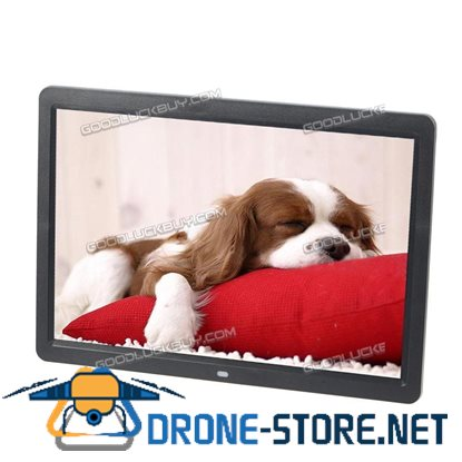 "15.6"" HD 1080P LED Digital Photo Frame Picture MP4 Movie Player Remote Control Black"