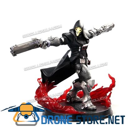 "11"" Overwatch OW Reaper Spelling Death Blossom PVC Action Figure Statue Model Toy"